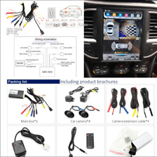 Car DVR Recording 4CH HD 360° Bird View Panorama System Rear View Camera Kits
