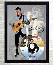 Elvis PRESLEY SIGNED FRAMED PHOTO CD Disc LOVE ME TENDER Perfect gift #2