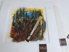 Peinture technique mixte acrylique feutre, marine, signée Daigre à droite.