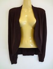 Stunning luxe chocolate stretchy drape cardi by classic brand SUSSAN sz16 as new