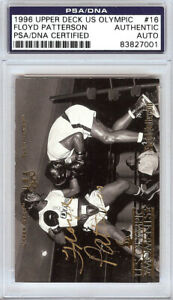 Floyd Patterson Autographed 1996 Upper Deck US Olympic Card #16 PSA/DNA 83827001