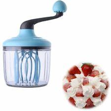 Manual Egg Beater Whipped Cream Milk Foamer Dispenser Home Kitchen DIY 1.1L Tool