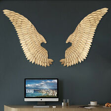 Gold Pair of Metal Angel Wings Home Decor Hanging Wall Sculpture Gift 124CM