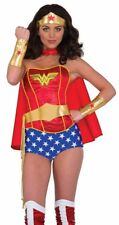 Wonderwoman Costume Accessory Kit Tiara Crown Belt Lasso Arm Guantlets Cuffs