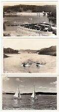 3 - NORRIS LAKE Tennessee - c1940 Photo POSTCARDS Dam SAILBOATS