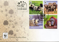 Hungary 2018 FDC WWF Iconic Animals 4v Cover Pandas Polar Bears Elephants Stamps