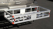 """Aluminum Car Truck RV SUV 2"""" Hitch Mount Cargo Water Tank Luggage Carrier Hauler"""