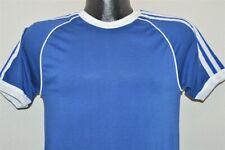 vtg 70s Blue White Striped Deadstock Stedman Jersey Blank t-shirt Small S