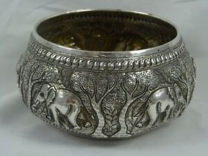 INDIAN silver BOWL, c1900, 228gm