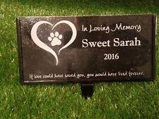 Memorial Headstone 6x10 Grave Marker Dog Cat Pet Temporary Stone Granite Human