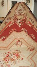 FRENCH VINTAGE LARGE AUBUSSON HAND WOVEN TAPESTRY CARPET RUG BEAUTIFUL COLORS
