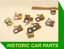 10 x Plated Petrol PIPE HOLDING CLAMPS for Austin Healey Sprite Mk 2 MK2 1961-64