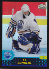 01-02 Topps Chrome Ty Conklin /50 Rookie BLACK Refractor Oilers 2001