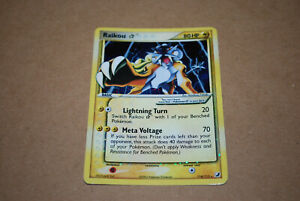 Gold Star Raikou Holo #114/115 Ex Unseen Forces 2005