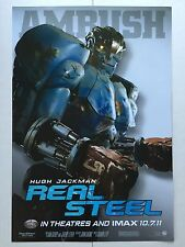 REAL STEEL 13x19 D/S ORIGINAL PROMO MOVIE POSTER