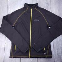 Columbia Passo Alto Softshell Jacket Mens Medium Brown Full Zip Omni-Wick SW118