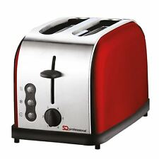 900w 2 Slice Toaster Stainless Steel Legacy Wide Slots Defrost Reheat – Silver
