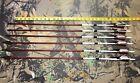 """6 Port Orford Cedar hunting Arrows 11/32"""" 29"""" Herters Ram 4-blade Crown dipped"""