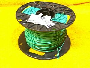 500' ROLL #18 AWG GREEN TFN TEWN 600 VOLT SOLID COPPER APPLIANCE WIRE 34A215