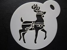 Corte láser pequeño Reno Diseño Cookie, pastel, Craft & Plantilla de Pintura de cara