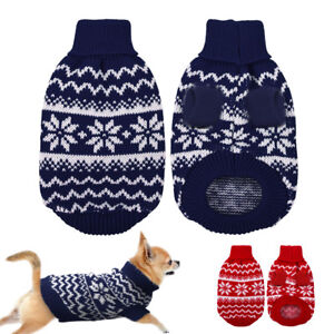 Small Dog Knitted Jumper Knitwear Pet Puppy Clothes Sweater Chihuahua S M L XL