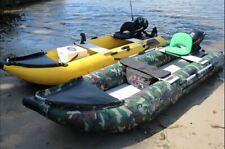 Inflatable 1.2mm PVC 12' River Raft Fishing Pontoon Dingy Boat W/ Pump NEW