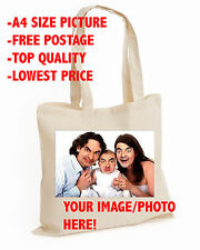 Your Image Photo wedding Cotton tote bag Personalised Stag Hen Print lot (BAG)