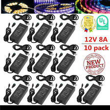 10x 12V 8A 96W AC to DC Adapter Power Supply for 5050 LED Light Strip 3528 OB
