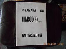 Werkstatthandbuch Reparaturanleitung Yamaha TDM 900 (P) - 2002