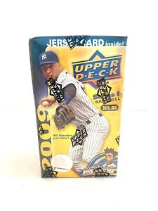 2009 Upper Deck Series 1 Baseball Factory Sealed Blaster Box+Game Used Jersey !!