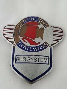 VINTAGE CONTINENTAL TRAILWAYS BUS SYSTEM OPERATOR CAP BADGE