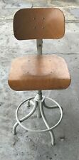 Chair Office 1960 Wooden & Metal, Industrial Brand Bad. H61 X L40 X P38 CM
