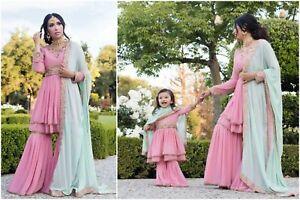 Indian Pakistani Designer Dress Pink Shalwar Kameez Salwar Kameez Wedding Suit