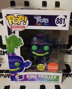 Funko Pop! King Trollex #881 Trolls Michaels Exclusive GLOW IN THE DARK (GITD)