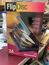 Laserline CD DVD Bluray Games Hard Flip Case Portable 24 Disc Holder Made in USA