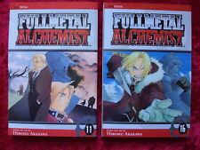 FULL METAL ALCHEMIST VOLUMES 11 & 16 VIZ MANGA LOT IN ENGLISH!