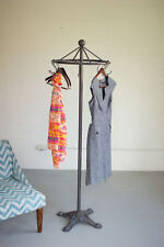 Antique Style Iron Spinning Clothes Coat Garment Rack Stand Vintage Cottage