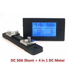 ComboDigital Ammeter VoltmeterDC100V50APower Energy Tester LCD50A/75mv Shunt
