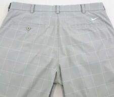 Nike Golf Tour Performance Mens Dri-Fit Gray/ White Checkered Pants Size 35X32