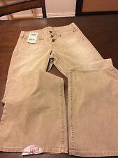 New womens Silver Jeans Kyoko flare cut Tan NWT 29X35