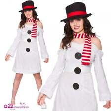 Snowman Costume Sweet Christmas Adults Ladies Womens Fancy Dress Outfit One Size