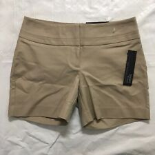 Apt 9 Wide Waist Shorts Size 4 Mid Rise Straight Cotton Stretch Cumin Spice NWT