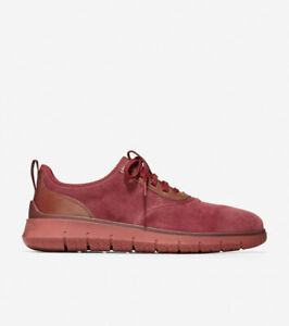 Men's Cole Haan Generation ZERØGRAND Mahogany Red Suede Size 9.5M