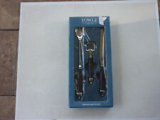 Towle Three-Piece Bar Tool Set with crocodile print handles