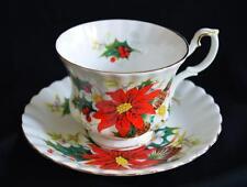 "Vintage Christmas Royal Albert Bone China Teacup & Saucer England ""Yuletide"""
