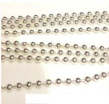 2 Metros X Plateado Plata Pretty De Cadena 2.4 mm bola la fabricación de joyas!