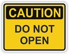 Do Not Open Caution Sticker WARNING Danger Safety VINYL Decal Bumper Door valve