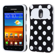 For Samung EPIC 4G TOUCH D710 TPU Candy HYBRID GLOW Case Phone Cover Black Dots