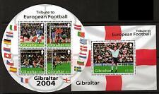GIBRALTAR SGMS1087 2004 EUROPEAN FOOTBALL  MNH