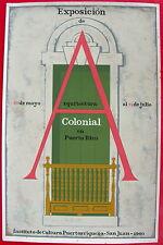 Lorenzo Homar 60 Arquitectura Colonial Cartel Poster Serigraph ICP Puerto Rico
